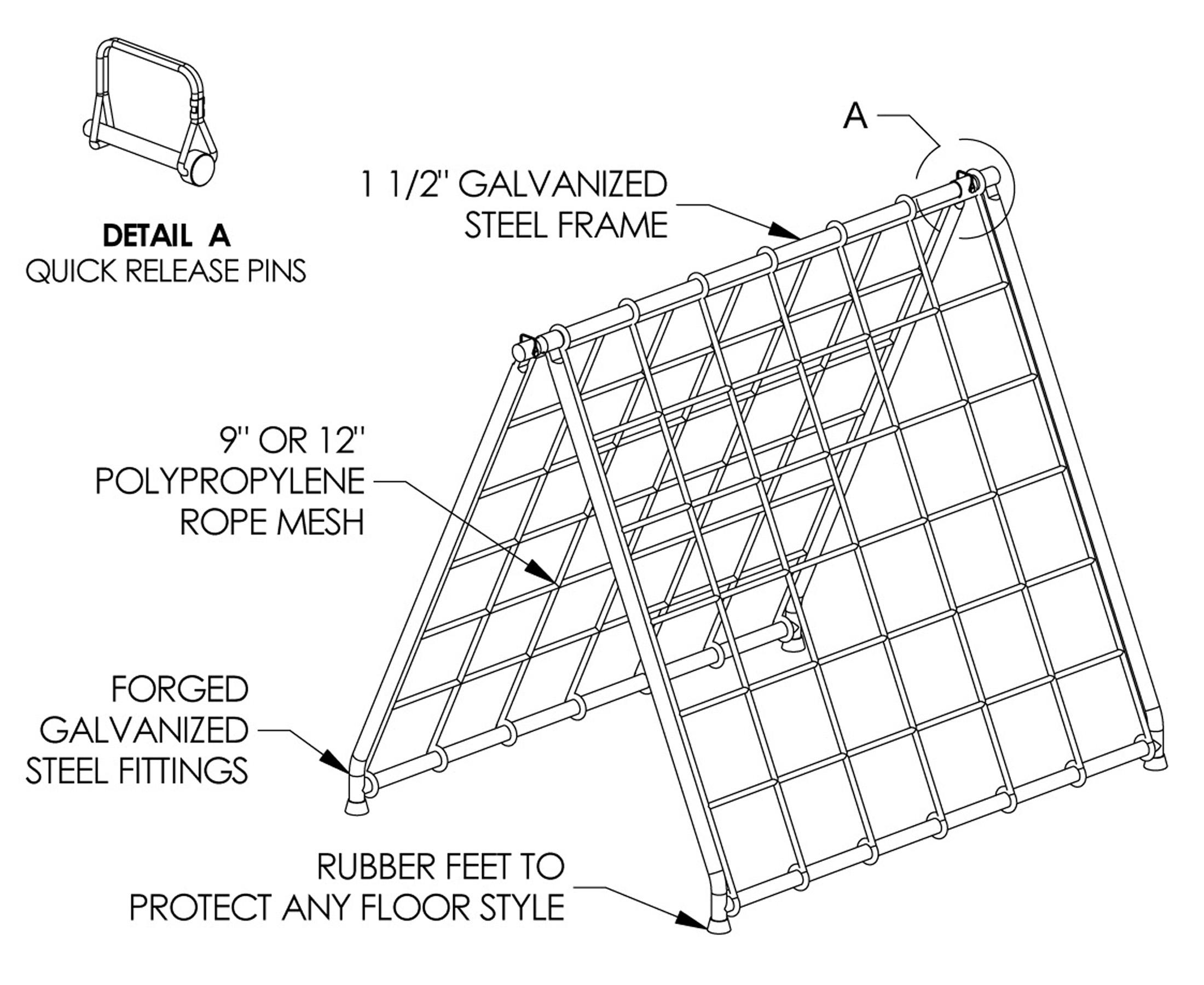 Scaler Climbing Net & Frame