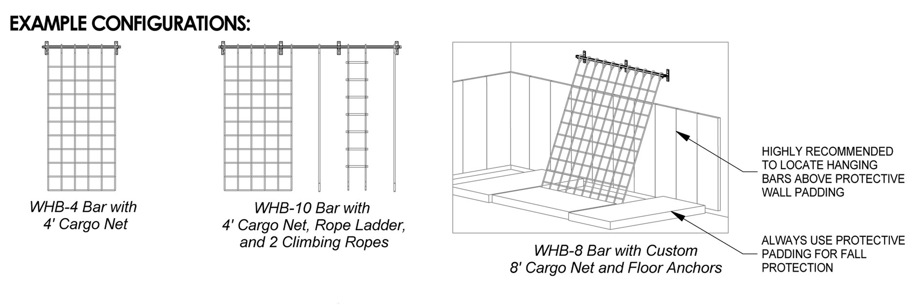 Wall Hanging Bar Product Specifications | WHB Series