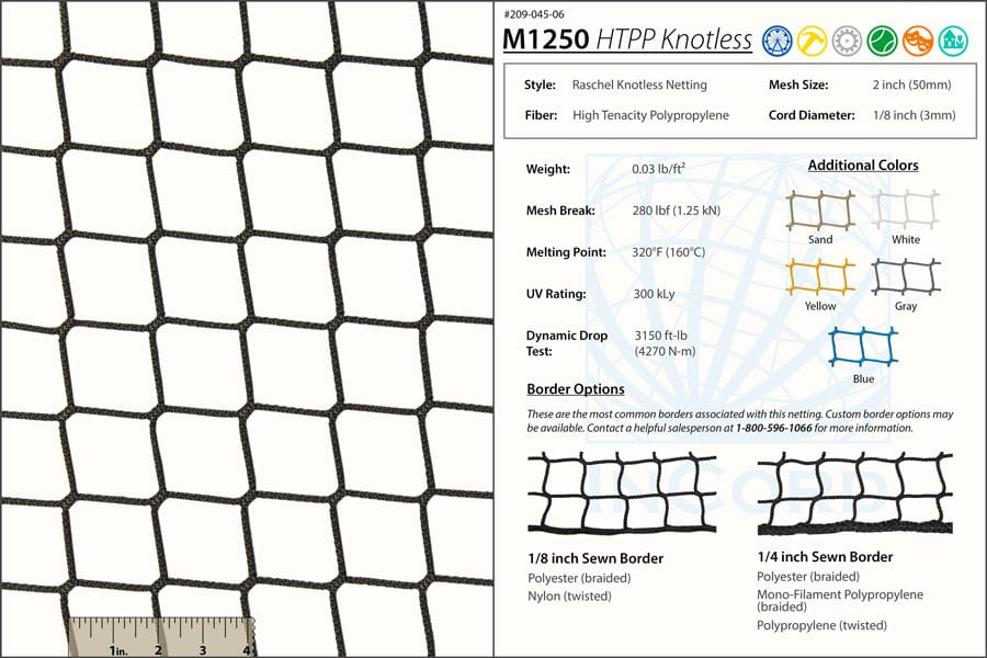 safety-netting-m1250specs