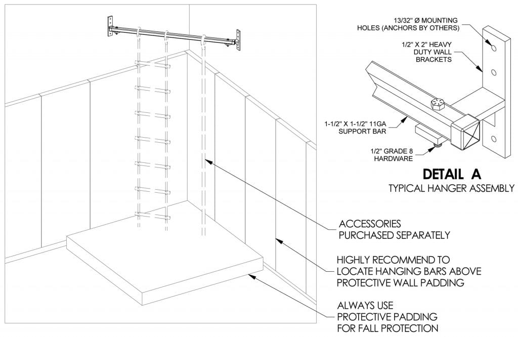 Corner Hanging Bar Product Specifications | CHB Series